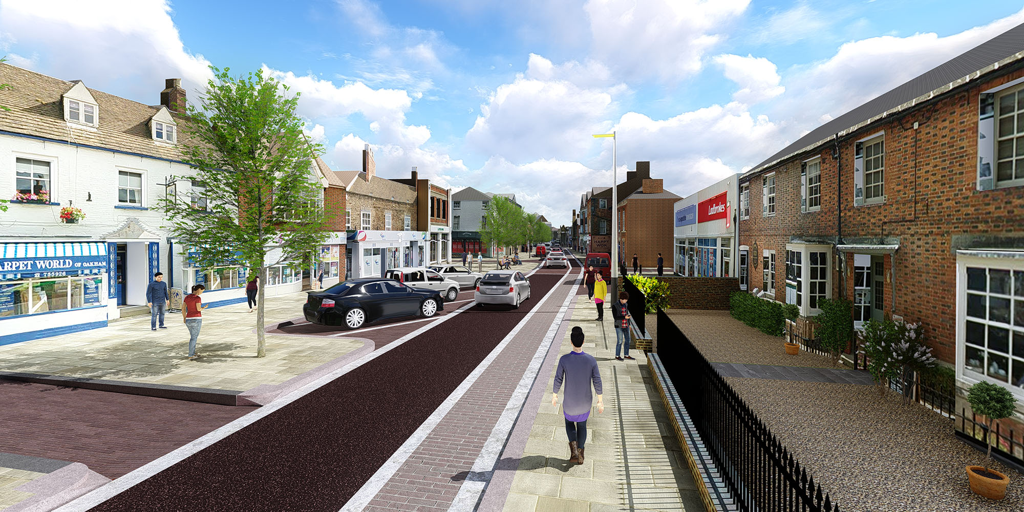Oakham Town Centre Option A