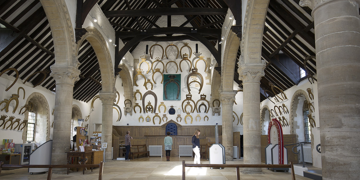 Inside Oakham Castle