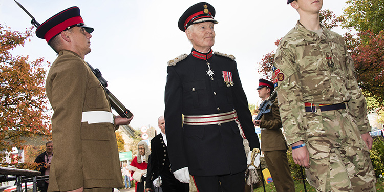 Lord-Lieutenant Sir Laurence Howard