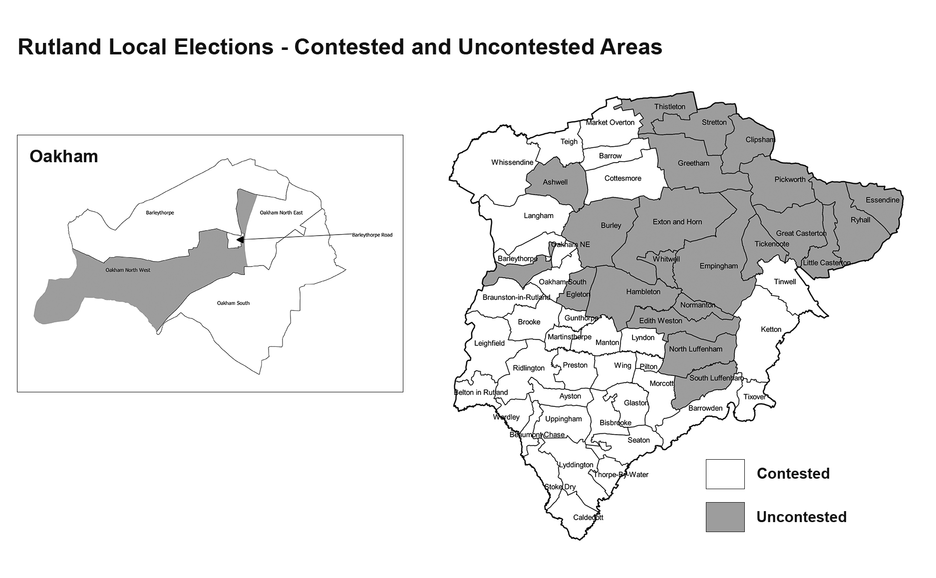 Contested and uncontested areas